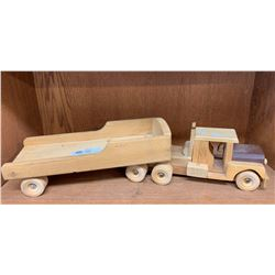 Large Wooden Custom Made Truck and Trailer