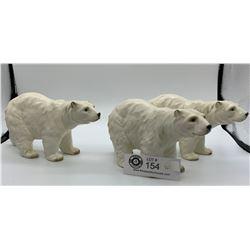 Lot of 3 Made in Japan Polar Bear Ceramic Figures