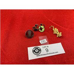 3 Vintage Union Pins