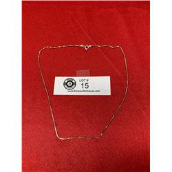 A Very Nice Italian  Sterling Box Chain Necklace