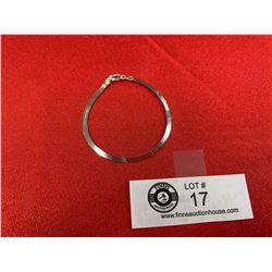A Nice Herringbone Italian Sterling Silver Bracelet