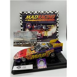"Mad Magazine Racing Car AAA Fuel Funny Car Jerry "" Madman"" Tolliver On Base"
