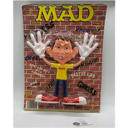 Mad Magazine Alfred E Newman Collectible Rubber Figure. In Original Packaing