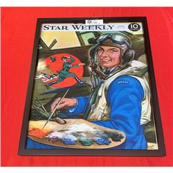 Reproduction Star Weekly Magazine Cover from July 5 1941 Enlarged and In a Frame