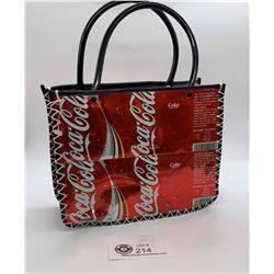 Coca Cola Purse Made from Coke Cans