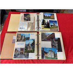 2 Vintage Photo Albums and Postcard Albums of Travel Through Europe 1970's