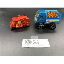 2 Vintage Diecast Pepsi Trucks