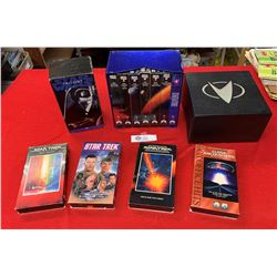 Lot of Star Trek and Star Wars VHS Tapes in a Box
