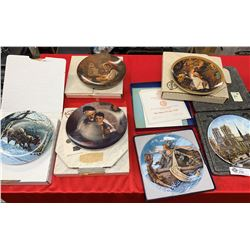 Lot of 6 Decorative Plates, all in Original Boxes