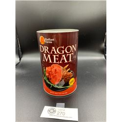 Radiant Farms Dragon Meat. Freshly Slayed. Product of Scotland Tin
