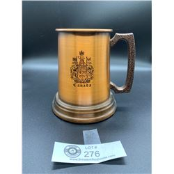 Vintage Copper Canada Coat of Arms Beer Stein