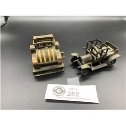 Collectible Pencil Sharpeners. One is a Cash Register