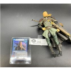 Lord of the Rings Action Figure Plus a Trading Card