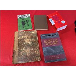 Nice Lot of 5 Vintage Criminal Code Books from 1925-2009 From BC
