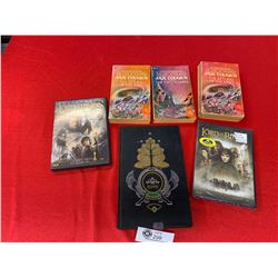 Lord of the Rings Lot. 2 DVD's  and 4 Books