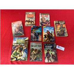 Lot of Western Vintage Paperback and Hard Cover Novels