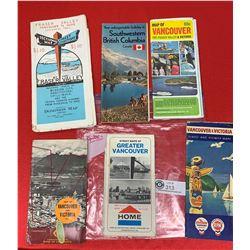 Lot of Vintage Roadmaps. Home Oil, Chevron Gasoline etc