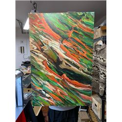 """Nice 24"""" W x 36"""" H Abstact Oil and Acrylic Painting by Local Artist in the Fraser Valley Otto Jegodt"""