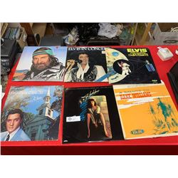 Lot of 6 Vintage Records. Elvis, Flashdance, and Hank Williams etc
