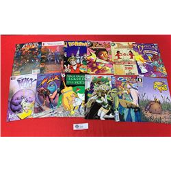 Lot of 12 Comics Tops Active Antartic Price etc
