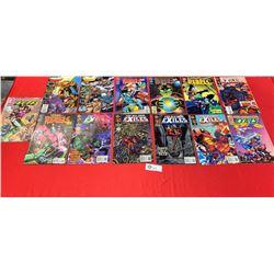 Lot of 13 Comics Valiant,DC Malibu Comics etc