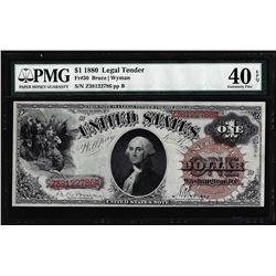 1880 $1 Legal Tender Note Fr.30 PMG Extremely Fine 40EPQ