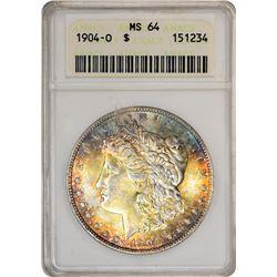 1904-O $1 Morgan Silver Dollar Coin ANACS MS64 Amazing Toning