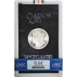 1881-CC $1 Morgan Silver Dollar Coin GSA Hoard NGC MS63 Proof Like