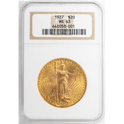 1927 $20 St. Gaudens Double Eagle Gold Coin NGC MS63
