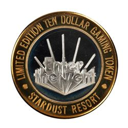 .999 Silver Stardust Resort Las Vegas $10 Casino Gaming Token Limited Edition