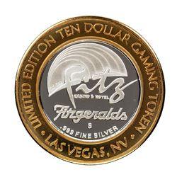 .999 Silver Fitzgeralds Casino & Hotel Las Vegas, NV $20 Limited Edition Gaming Token