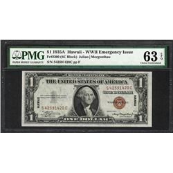 1935A $1 Hawaii Silver Certificate WWII Emergency Note PMG Choice Uncirculated 63EPQ