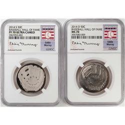 2014 Baseball Hall of Fame Half Dollar Coins NGC MS70/PF70 Ultra Cameo Eddie Murray Set