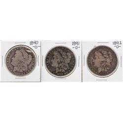 Lot of 1890, 1891-O & 1892-O $1 Morgan Silver Dollar Coins