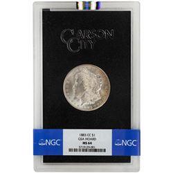 1883-CC $1 Morgan Silver Dollar Coin GSA NGC MS64