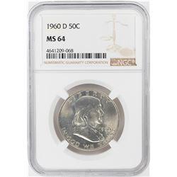 1960-D Franklin Half Dollar Coin NGC MS64