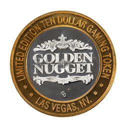 .999 Silver Golden Nugget Las Vegas $10 Limited Edition Casino Gaming Token