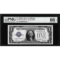 1928B $1 Funnyback Silver Certificate Note Fr.1602 PMG Gem Uncirculated 66EPQ