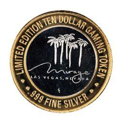 .999 Silver Mirage Las Vegas Nevada $10 Casino Limited Edition Gaming Token