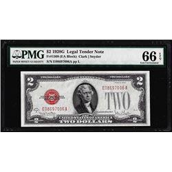 1928G $2 Legal Tender Note Fr.1508 PMG Gem Uncirculated 66EPQ