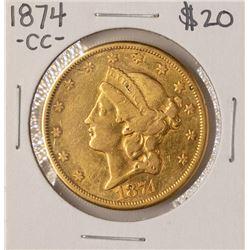 1874-CC $20 Liberty Head Double Eagle Gold Coin