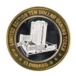 .999 Fine Silver Eldorado Reno, Nevada $10 Limited Edition Gaming Token