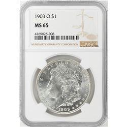 1903-O $1 Morgan Silver Dollar Coin NGC MS65
