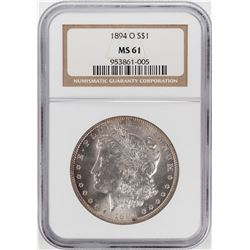 1894-O $1 Morgan Silver Dollar Coin NGC MS61