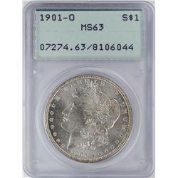 1901-O $1 Morgan Silver Dollar Coin PCGS MS63 Old Green Rattler