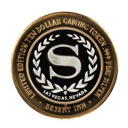 .999 Silver Desert Inn Las Vegas, Nevada $10 Limited Edition Gaming Token
