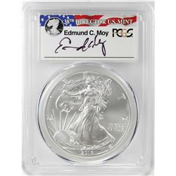 2016-W $1 Burnished American Silver Eagle Coin PCGS SP70 First Strike Moy Signature