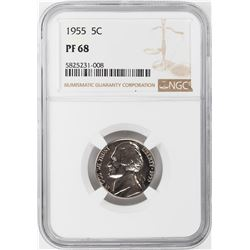 1955 Proof Jefferson Nickel Coin NGC PF68