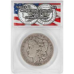 1903-S $1 Morgan Silver Dollar Coin ANACS Certified Genuine