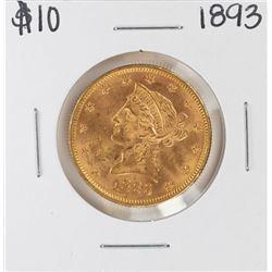 1893 $10 Liberty Head Eagle Gold Coin